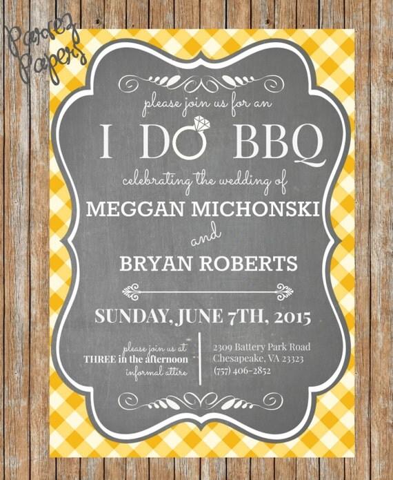Backyard BBQ Wedding Invite-Printable BBQ Wedding By