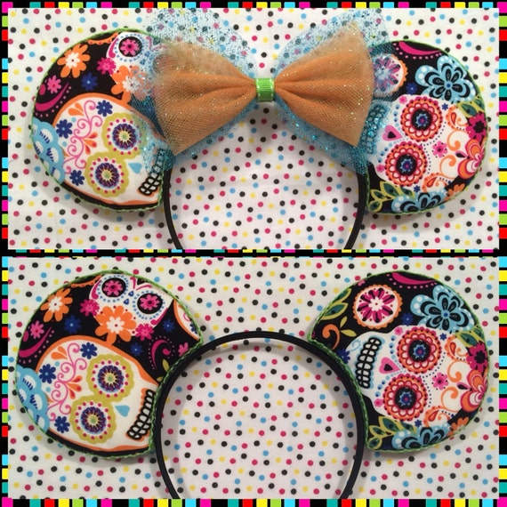 Sugar Skull Halloween Mouse Ears