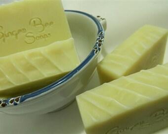 Calendula & Lanolin Hand Made Soap,   100% Natural Soap  Orange  Calendua Flowers  Palm Oil Free  Lanolin Cold Process Soap