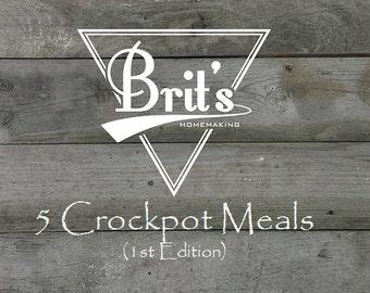 5 Crockpot Meals Mini Cookbook