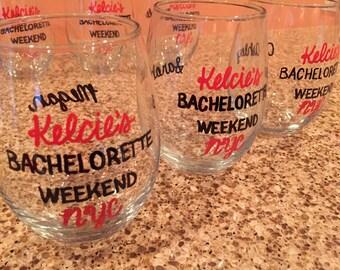 Bachelorette Party Wine Glass - SET OF 3