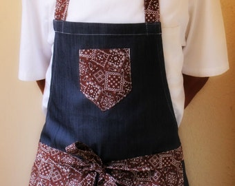 Espresso Denim Chef Apron