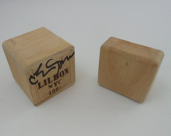 Small Wooden Gift Box Unfinished Wood rounded edges Lil Box NYC 1986 LILBOX
