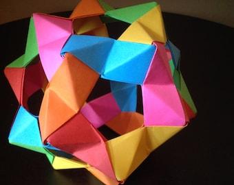 30-Piece Modular Origami PHiZZ Ball