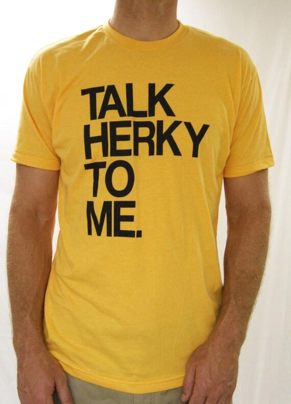 Talk herky to me t shirt unisex iowa hawkeyes by hartcrewtees for Iowa hawkeye t shirt