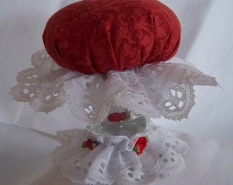 Red & White Pincushion