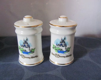 Vintage Walt Disney Salt and Pepper shakers, Cinderella's Castle