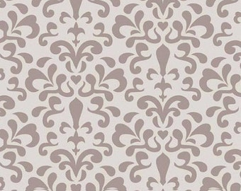 Doohikey Designs, Damask in Gray, Ashbury Collection,1 yard C3343