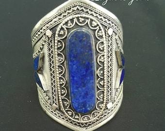 Afghan tribal lapis lazuli vintage cuffs, bohemian cuffs