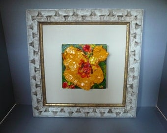 Framed Original Floral painting on canvas: No.2