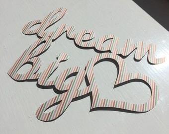 Dream Big Miniature Papercut Template Suitable for Ikea TYSSLINGE Frame - Personal Use