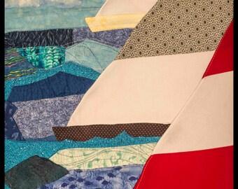 """Sailboat FabricScape 24""""x30"""" Print"""