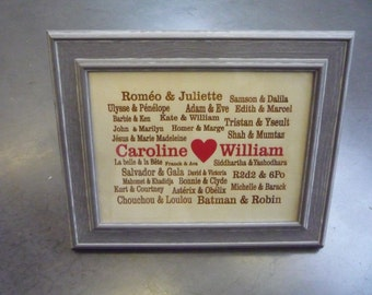 gift, decoration of wedding (with the frame)