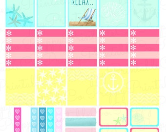 Salt Life Weekly Sticker Kit // Printable PDF // Perfect for Erin Condren Life Planners!!