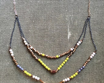 Layered Chartreuse Necklace