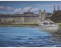 Enniskillen Castle in Co. Fermanagh - Irish Landscape Scenery Skyline - Giclee Fine Art Print - Various sizes available