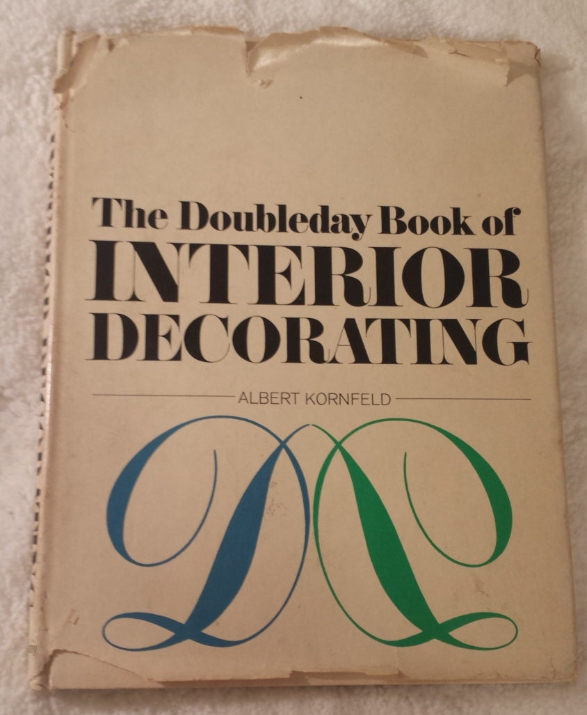 1965 Doubleday Interior Decorating Book Guide Vintage