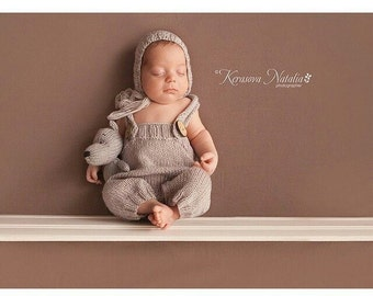 Newborn photo prop, Newborn pants, Newborn photo set, newborn prop, newborn pant set, newborn hat