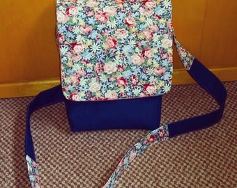 Floral across body shoulder bag