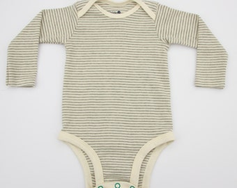 Striped Onesie for cloth diapers