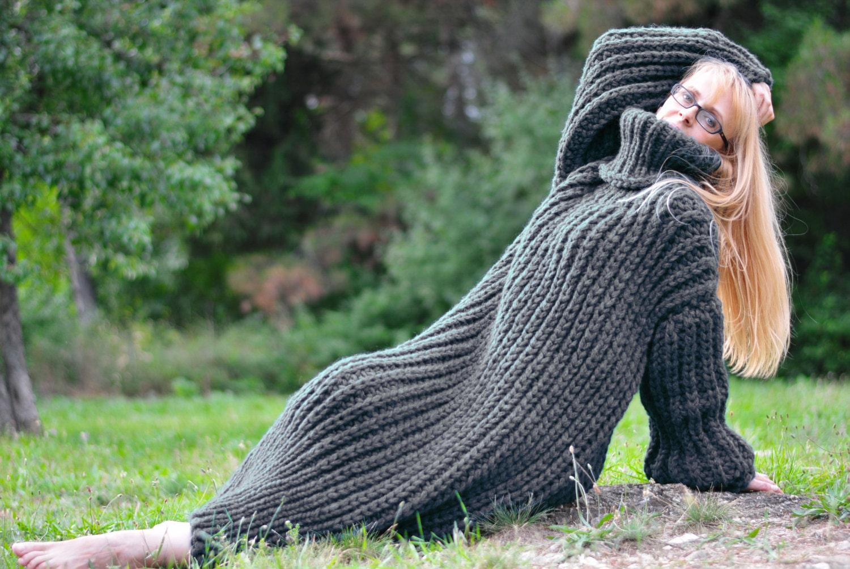 hand gestrickte wolle kleid chunky merino kleid dicke wolle. Black Bedroom Furniture Sets. Home Design Ideas