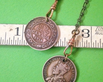 Vintage Canadian Penny Necklace - choose your length