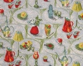 Original Vintage Fabric Remnant - 1950s Kitchen Home design