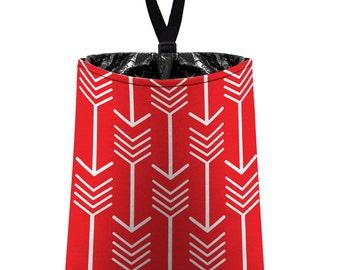 Car Trash Bag // Auto Trash Bag // Car Accessories // Car Litter Bag // Car Garbage Bag - Arrows (red) // Car Organizer