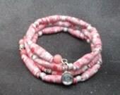 Rosemary - Paper Bead Bracelet