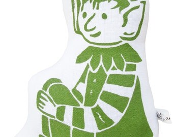 NEW elf block print stuffie
