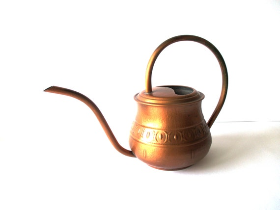 Copper Watering Can Midcentury Style Indoor By