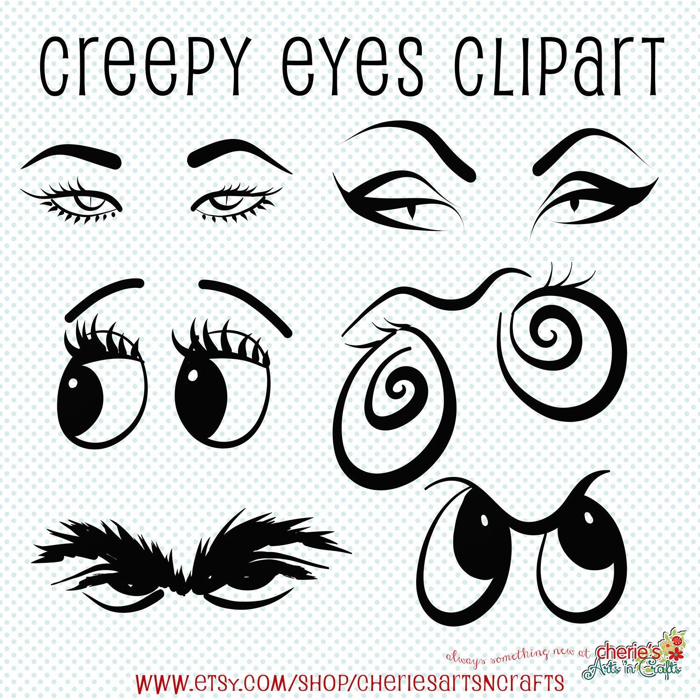 Creepy Eyes Clip Art Halloween Clip Art Eyes Clipart Creepy