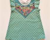 Mint city print cotton baby dress Supayana restocked in 6-12 through 4T
