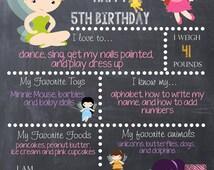 Disney Fairy inspired Fairy Chalk Board Poster