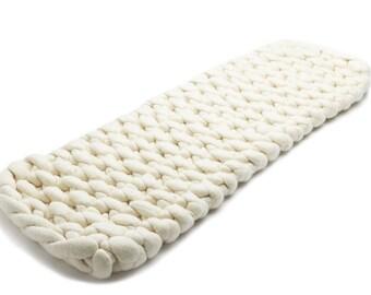 Extra long wool felt wool roving table runner