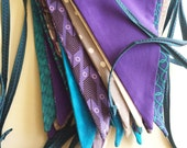 custom 14-flag bunting garland, handmade in your choice of colors and fabrics