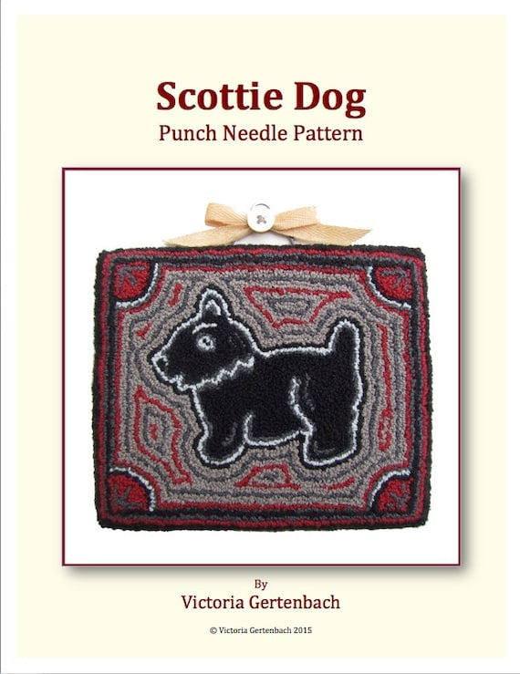Scottie Dog PDF Punch Needle Pattern. Needle Punch Embroidery Pattern. Digital Pattern Instant Download Embroidery Craft Pattern