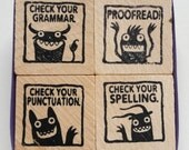 Monster rubber stamps for teachers