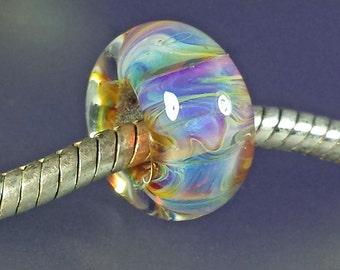 Large Hole Big Hole Lampwork Glass Bead #341 SRA