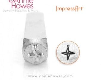 Impressart Metal Stamps - Compass Design Stamp