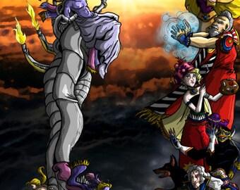 Final Fantasy 6/VI Final Battle 8x24 Fanart Print