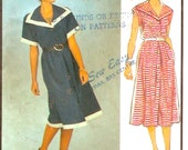80s Pullover dress Summer Spring Fall dress sewing pattern Style 4576 retro UNCUT Bust 36