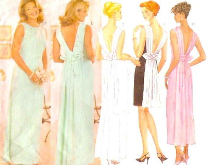 Mature Brides Wedding dress bridesmaid dress sewing pattern Butterick 5420 Sz 12 to16 Classic wedding gown
