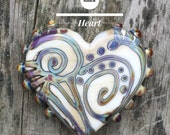 Bella Bead Jewelry Raku Heart Bead