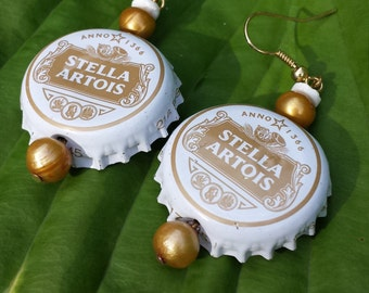 Novelty Stella Artios Bottlecap Earrings
