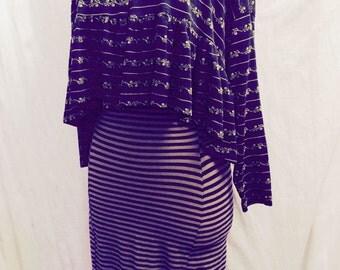 Vintage 1980s Betsey Johnson Punk Label Top & Skirt Set