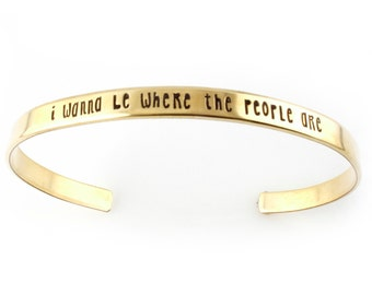 Little Mermaid Bracelet - Where the People Are - Ariel Cuff Bracelet in Silver, Gold, or Rose Gold