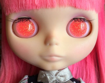 Blythe Resin Eye Chips - Jelly Coral - Peach Pink