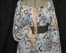 Mori Girl SALE Steampunk romantic Pirate Boho 75% 0ff prarie peasant blouse paisley one size ladies shirt