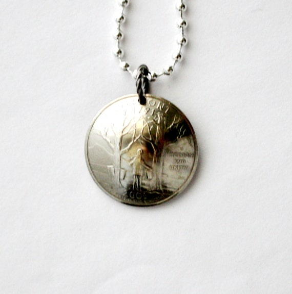 vermont state quarter necklace domed coin pendant by hendywood